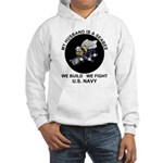 Seabee Husband U.S. Navy Hooded Sweatshirt