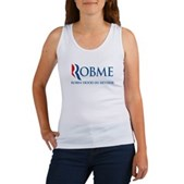 Anti-Romney Rob Me Robin Hood Women's Tank Top