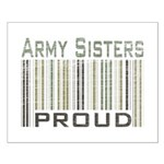 Military Army Sisters Proud Small Poster