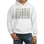 Army Girlfriends Priceless Barcode Hooded Sweatshi