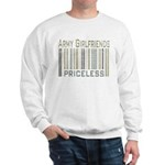 Army Girlfriends Priceless Barcode Sweatshirt