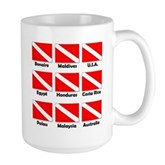 Dive Flags of the World Large Mug