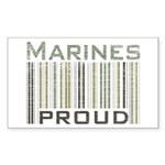 Marines Proud Military Sticker (Rectangular)