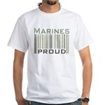Marines Proud Military White T-Shirt