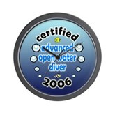 Certified Advanced Open Water Diver '06 Wall Clock