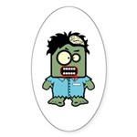Cute Zombie Character Oval Sticker (Oval)