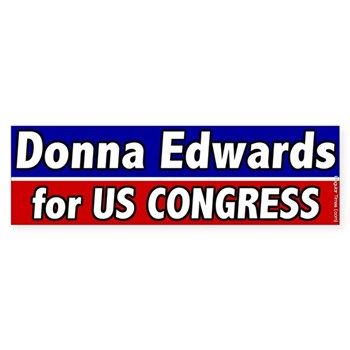 Donna Edwards for U.S. Congress (Maryland Congressional Campaign Bumper Sticker)