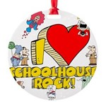 I Heart Schoolhouse Rock! Round Ornament
