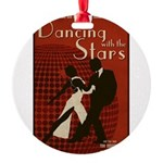 Distressed Retro DWTS Poster Round Ornament