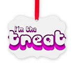 Retro I'm the Treat Picture Ornament