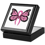 Breast Cancer Butterfly Keepsake Box