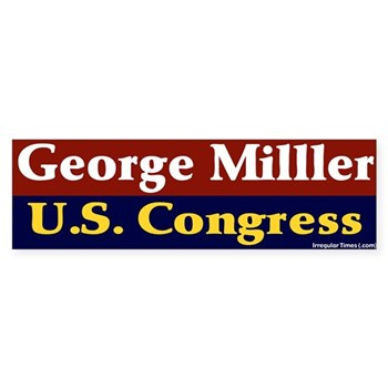 George Miller for Congress bumper sticker
