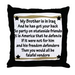 My Brother's Got Your Back Military Poem Throw Pil