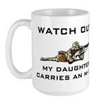 MILITARY DAUGHTER M-16 Large Mug