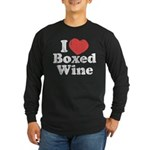 I Heart Boxed Wine Long Sleeve Dark T-Shirt