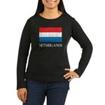 Netherlands Flag Women's Long Sleeve Dark T-Shirt