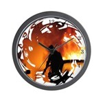 Firefighter Circle of Flames Wall Clock