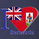 I love Bermuda Long Sleeve Dark T-Shirt
