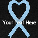 Personalized Light Blue Ribbon Heart T-Shirt