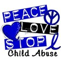 Peace Love Stop Child Abuse 1 White T-Shirt