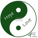 Yin Yang Hope Love White T-Shirt