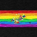 PICES Gay Rainbow Art T-Shirt