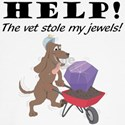 VET STOLE MY JEWELS Dog T-Shirt