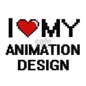 I Love My Animation Design Digital Retro D T-Shirt