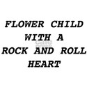 Flower Child With A Rock And Roll Heart T-Shirt