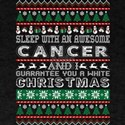 Sleep With Awesome Cancer White Christmas T-Shirt