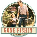Gone Fishin' White T-Shirt