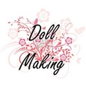 Doll Making Artistic Design with Flowers T-Shirt