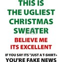 'Ugly Christmas Sweater' Humorous Anti Trump T-Shi