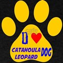 I Love Catahoula Leopard Dog T-Shirt