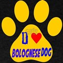 I Love Bolognese Dog T-Shirt