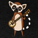 Funny Lemur Playing Banjo T-Shirt