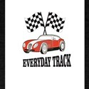 red everyday track car T-Shirt