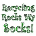 Recycling Rocks My Socks White T-Shirt