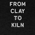 Pottery Design From Clay To Kiln Light Cla T-Shirt
