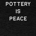Pottery Design Is Peace Light Clay Ceramic T-Shirt