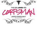 This Girl Loves (Corpsman) White T-Shirt