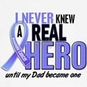 Never Knew A Hero 2 LT BLUE (Dad) Women's Long Sle