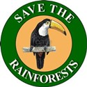 Save Rainforests (Front) White T-Shirt