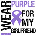 I Wear Purple Ribbon Girlfriend Shirts & Gifts