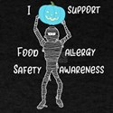 Teal Pumpkin Mummy Food Allergy I Support T-Shirt