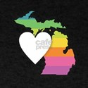 Michigan Rainbow Heart T-Shirt