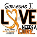Needs A Cure 2 MULTIPLE SCLEROSIS T-Shirts & Gifts