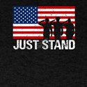 Just Stand Red White Blue Soldiers Salute T-Shirt