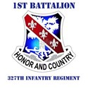 DUI - 1st Bn - 327th Infantry Regt with Text White