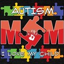 Autism Mom I Love My Child Dark T-Shirt
